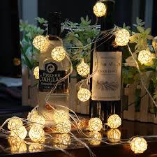 led cer awning lights novelty 3m 20leds rattan ball color led holiday lighting christmas