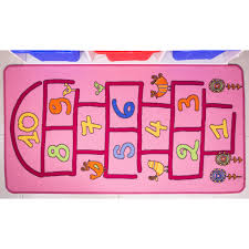 pink kid car tips let your kids play the classic game with hopscotch rug