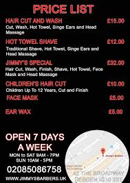 jimmy u0027s barbers barbers loughton men u0027s haircut debden barber