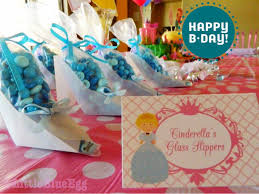 glass slipper party favor princess party favors blue egg