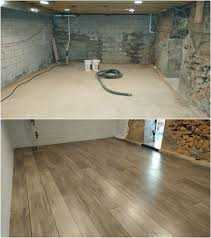 Staining Concrete Basement Floor Basement Refinished With Concrete Wood Ardmore Pa Rustic