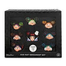 disney ornament set snow white and the seven dwarfs ear hats