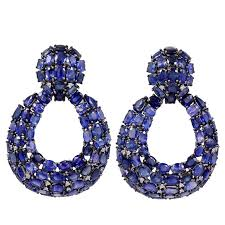 diamond earrings for sale open blue sapphire and diamond earrings for sale at 1stdibs