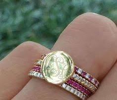 monogrammed rings silver beautiful monogrammed rings do you the gold or silver more