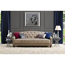 Retro Sofa Bed 9 By Novogratz Vintage Tufted Sofa Sleeper Ii Taupe