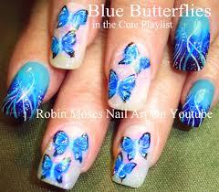 robin moses nail art spring butterfly nail art design tutorial