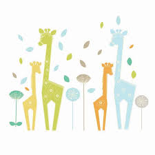Giraffe Wall Decals For Nursery Zig Zag Zoo Giraffe Wall Decals By Lolli Living Rosenberryrooms