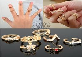 midi rings set 7 pcs midi rings set ilovejmc