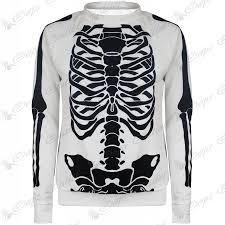 womens halloween shirt womens ladies skeleton halloween tshirt jumper sweatshirt midi