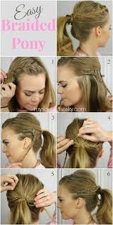 hair braiding styles step by step 15 cute easy ponytails sure ch