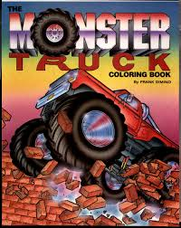 monster truck coloring books the monster truck coloring book troubador press frank dimino