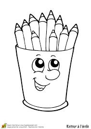 coloriage retour ecole pot de crayon sur hugolescargot com