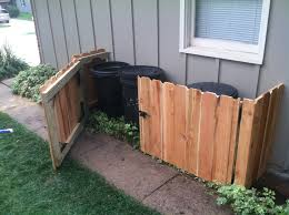diy trash can storage front yard landscape pinterest storage