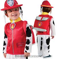 fireman halloween costume kids ck789 paw patrol boys marshall cartoon fireman fancy dress costume