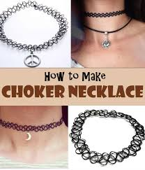 chokers necklace diy images Lovely diy choker necklace the budget diet jpg