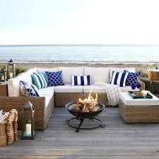Patio Furniture Sectional Sets - echo beach latte 5 piece sectional pier 1 imports