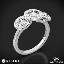 3 halo engagement rings ritani endless 3 engagement ring 2177