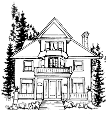 House Drawing by Outline Of Houses Free Download Clip Art Free Clip Art On