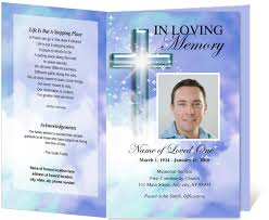 funeral programs templates free edit print ready made program clerical