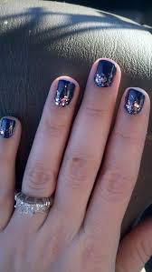 week two navy with essie pink sparkle lux effects 1 gel primor