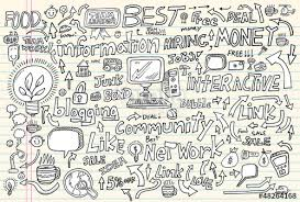 doodle vectors free business technology doodle vector set stock image and