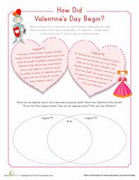 origin of valentine u0027s day worksheet education com