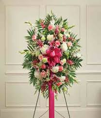 floral spray multicolor pastel sympathy standing spray at from you flowers