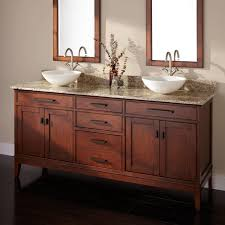 Madison Double Vessel Sink Vanity Tobacco Bathroom - Bathroom vanities double vessel sink