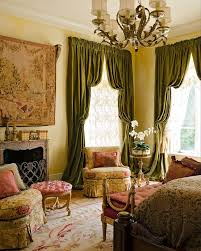 Houzz Traditional Bedrooms - antique drapery rod for a victorian bedroom with a white wall and