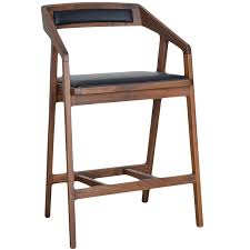 Modern Wood Bar Stool Padma Modern Wooden Counter Stool