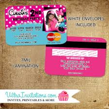 glamorous credit card party invitations 82 on free printable