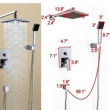 shower fixtures ebay bathroom rain shower faucet system set 8