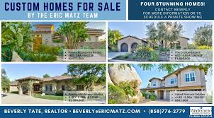 4 custom homes for sale by the eric matz team your san diego