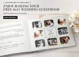 wedding registry book guest book shutterfly free 8x11 photo book or wedding guestbook pay