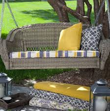 wicker porch swing replacement cushions home design ideas