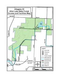 map of allen allen lake state forest map nys dept of environmental conservation