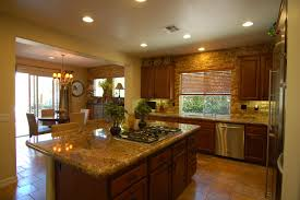 kitchen with an island delightful subway tile in kitchen with marble countertops and nice
