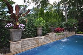 Pool Landscaping Ideas by Long Island Water Features Pool Landscaping Waterfalls Ny