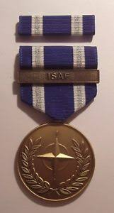 afghanistan ribbon u s non article 5 nato medal afghanistan isaf bar with ribbon