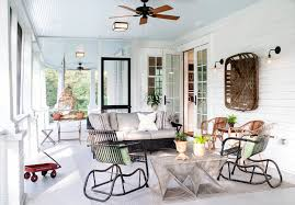 retractable screen door porch traditional with ceiling fan country