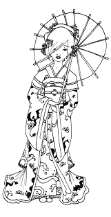 geisha coloring pages google u0027da ara zentangle colouring pages