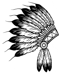 native american clipart headpiece pencil and in color native