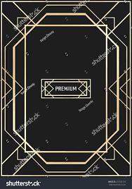 vector geometric frame art deco style stock vector 431521276