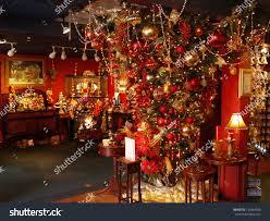 hanging christmas tree decorated holidays store stock photo
