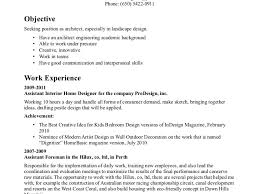 Architectural Resume Sample by Design Ideas 26 Good Landscape Architect Landscape