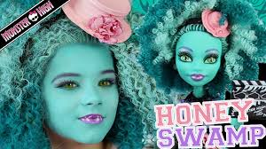 Halloween Costumes Monster High by Monster High Honey Swamp Doll Makeup Tutorial For Halloween Or