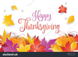 happy thanksgiving greeting card fall maple stock vector 691620463