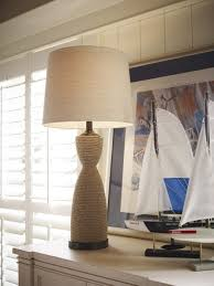 beach home decor accessories natural wrapped table lamp beach cottage love pinterest