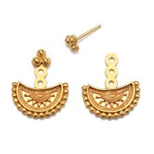 earrings gold half moon mandala earrings satya jewelry