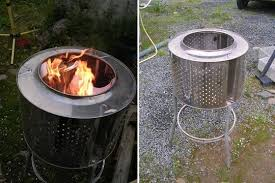 Washing Machine Firepit Stainless Steel Washing Machine Drum Used As Pit Memoirs On